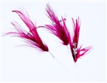 Flutterz Feather Pick with rhinestone - Burgundy (Pack of 3)