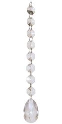 "Mini Prism Teardrop Crystal Garland (10"")"