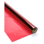 "Red Cellophane Wrap - 40"" x 100 feet"