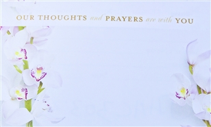 """Our Thoughts and Prayers are with You"" Enclosure Card (pack of 50)"