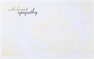 """With Deepest Sympathy"" Rose Enclosure Cards (pack of 50)"