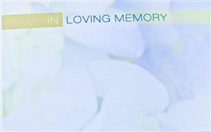 """In Loving Memory"" Cobblestone Enclosure Cards (pack of 50)"