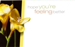 """Hope You're Feeling Better"" Enclosure Cards (pack of 50)"