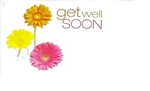 """Get Well Soon"" Daisy Enclosure Cards (pack of 50)"