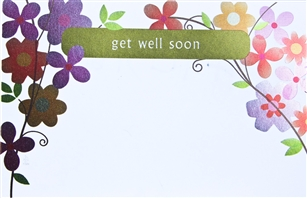 """Get Well Soon"" Daisy Sympathy Enclosure Cards (pack of 50)"