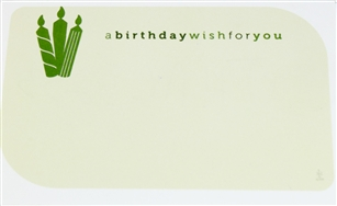"""a birthday wish for you"" candle Enclosure Cards (pack of 50)"