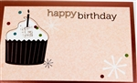 """Happy Birthday"" Cupcake Enclosure Cards (pack of 50)"
