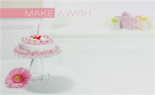 """Make A wish"" Cake Enclosure Cards (pack of 50)"