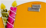 """Wishing You a Happy Birthday"" Candles Enclosure Cards (pack of 50)"