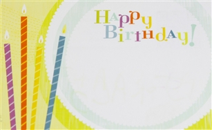 """Happy Birthday"" Candles Enclosure Cards (pack of 50)"
