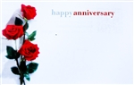 """Happy Anniversary"" Roses, Enclosure Cards (pack of 50)"