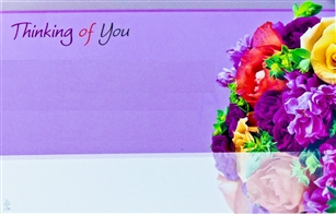 """Thinking of You"" Arrangement Enclosure Cards (pack of 50)"