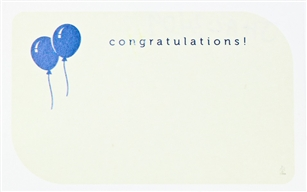 """Congratulations"" Balloon Enclosure Cards (pack of 50)"