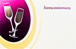 """Happy Anniversary"" Champagne, Enclosure Cards (pack of 50)"