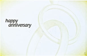 """Happy Anniversary"" Conjoined Rings, Enclosure Cards (pack of 50)"