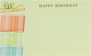 """Happy Birthday"" Gift Box Enclosure Cards (pack of 50)"