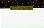 """Congratulations"" Fireworks Enclosure Cards (pack of 50)"