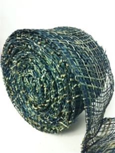 "Ribbon Burlap Peacock 2-1/2"" X 10 Yard"