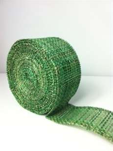"Ribbon Burlap Apple Green 2-1/2"" X 10 Yard"
