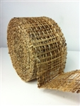 "Ribbon Burlap Natural  2-1/2"" X 10 Yard"