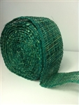 "Ribbon Burlap Emerald Green 2-1/2"" X 10 Yard"