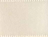 "Ribbon 3/8"" 9Mm Cream Double Face Satin  815 50 Yd"