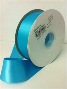 Ribbon #9 Turquise Double Face Satin 340 50Yd