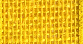 Ribbon #9 Burlap Bright Yellow 10Yd Morex