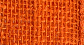 Ribbon #40 Burlap Orange 10Yd Morex