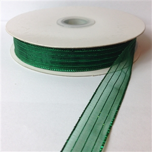 Ribbon #3 Sheer Hunter Green Harmony 35 50 Yd