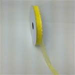 Ribbon #3 Sheer Maize Yellow Harmony 605 50 Yd