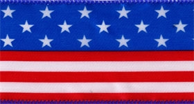 Ribbon #40 Stars & Stripes Red/Wh/Blue 914 3Yd