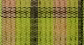 Ribbon #40 Wired Lime Green Chic Plaid  027 50