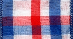 Ribbon #40 Wired Chic Red White Blue Plaid 914 50Y