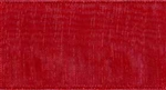 Ribbon #9 Rose Red Organdy Sheer 194 100 Yd
