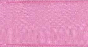 Ribbon #9 Pink Organdy Sheer 22 100 Yd