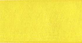 Ribbon #9 Bright Yellow Organdy Sheer 605 100 Y