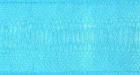 Ribbon #9 Turquoise Organdy Sheer 712 100 Yd