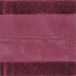 Ribbon #3 Delight Sheer Burgandy W/Satin Edge 25Y