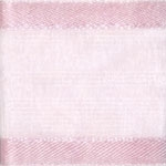 Ribbon #3 Delight Sheer Lt Pink W/Satin Edge 25Y