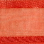 Ribbon #3 Delight Sheer Hot Coral W/Satin Edge 25Y