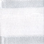 Ribbon #3 Delight Sheer White W/Satin Edge 25Y