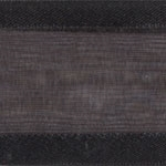 Ribbon #3 Delight Sheer Black W/Satin Edge 25Y