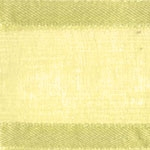 Ribbon #3 Delight Sheer Lt Yellow W/Satin Edge 25Y