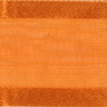 Ribbon #3 Delight Sheer Orange W/Satin Edge 25Y