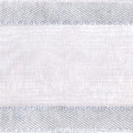 Ribbon #3 Delight Sheer Silver W/Satin Edge 25Y