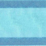 Ribbon #3 Delight Sheer Turquoise W/Satin Edge 25Y