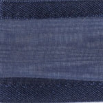 Ribbon #3 Delight Sheer Navy Blue W/Satin Edge 25Y