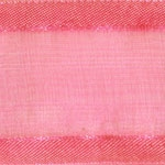 Ribbon #9 Delight Sheer Hot Pink W/Satin Edge 100Y