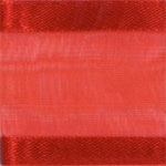 Ribbon #9 Delight Sheer Red W/Satin Edge 100Y